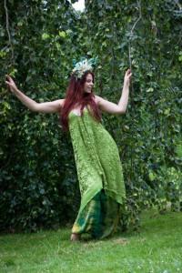 Marloes Biemond in fantasy jurk