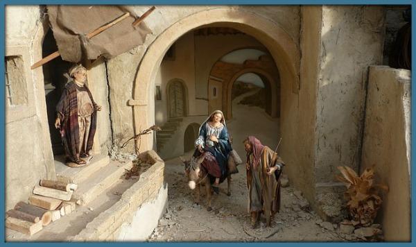 Maria en Jozef bij de herberg